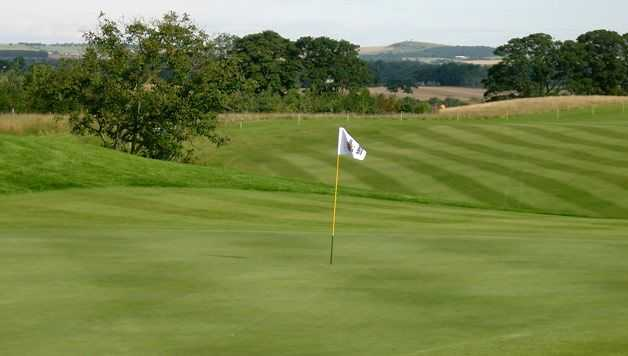 View of a green at SCHLOSS Roxburghe Golf Course