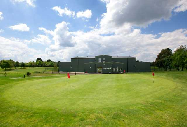 The putting green and driving range at Thorpe Wood