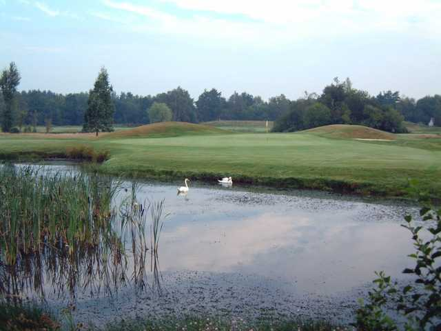 A view of the 10th green at Orton Meadows Golf Club