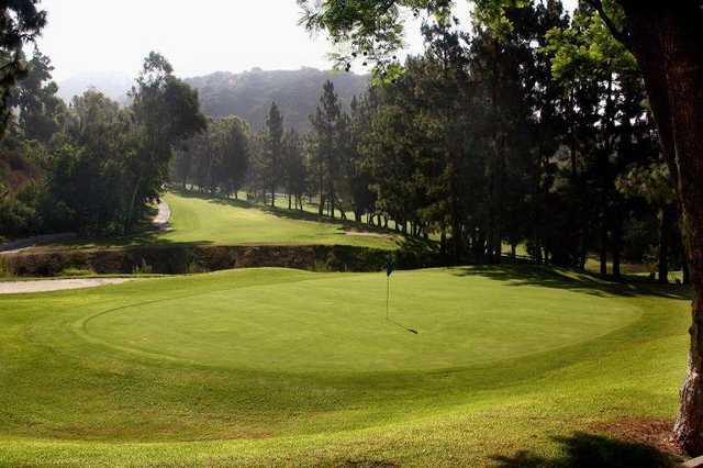 A view of a green from DeBell Golf Course.