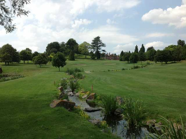Beautiful view of the stream winding through the 16th hole at The Welcombe Golf Club