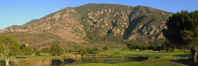 A view from Camarillo Springs Golf Course with mountains in background