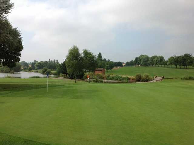 A view of the 10th green Windmill Village Golf Club
