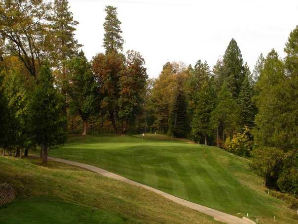 A view of green #17 at Apple Mountain Golf Resort.