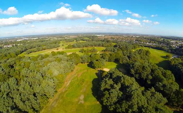 A birdseye view of the Queens Park Golf Course