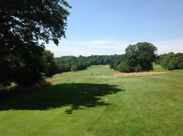 View from the tee of the 16th hole at Selsdon Park Golf Club
