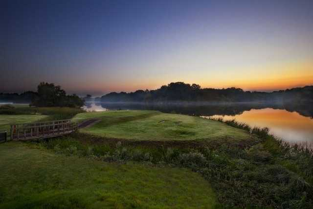 The Patshull Park course at sunrise