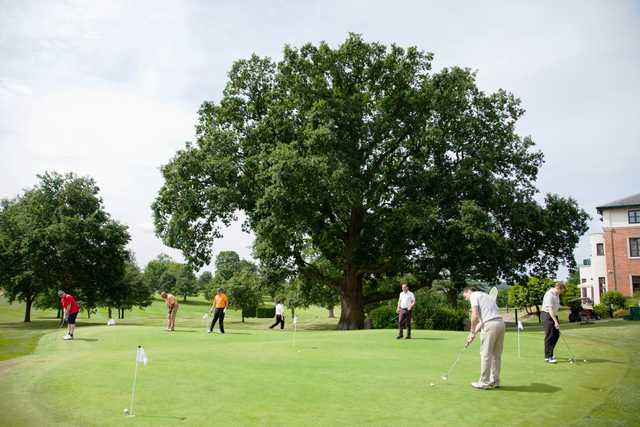 Putting green at Puckrup Hall Golf Club