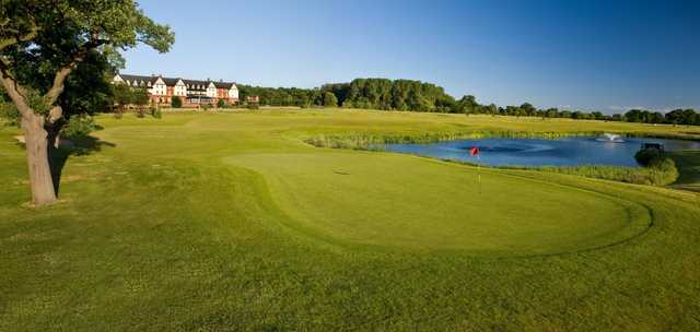 A look back from the green on the Nicklaus Course at Carden Park