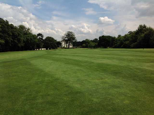 18th fairway with Owston Hall in the background