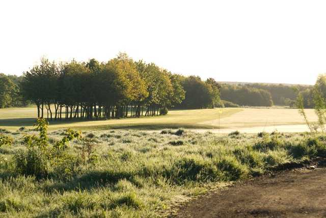 Tree-lined fairways frame the golf course at George Washington Golf Club