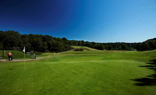 View from the 7th green across to the 8th at  Meyrick Park Golf Club