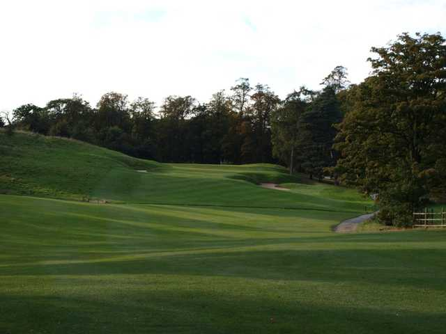 The 17th hole fairway at Mottram Hall Golf Club, Cheshire, England