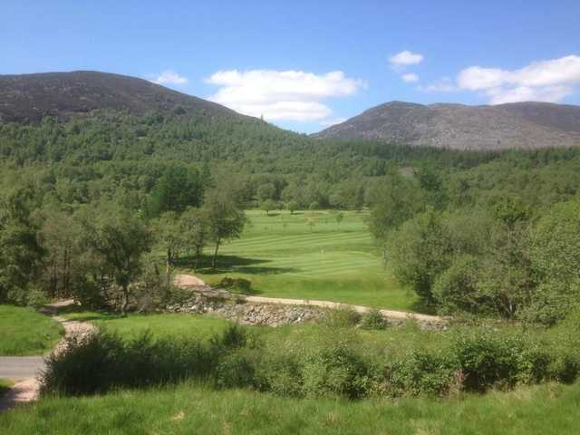 Tight fairway at Kingussie Golf Club