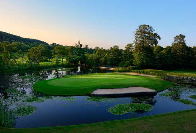 The 12th hole on the Lake Course at The Vale Resort