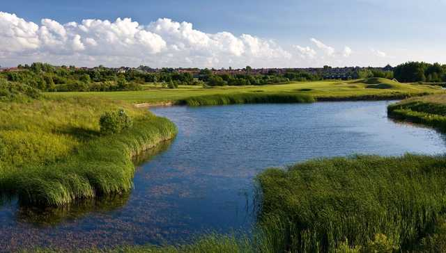 River winding through golf course at Herons' Reach Golf Resort