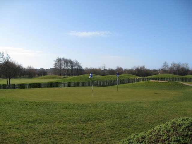 The short game area at Herons' Reach Golf Resort