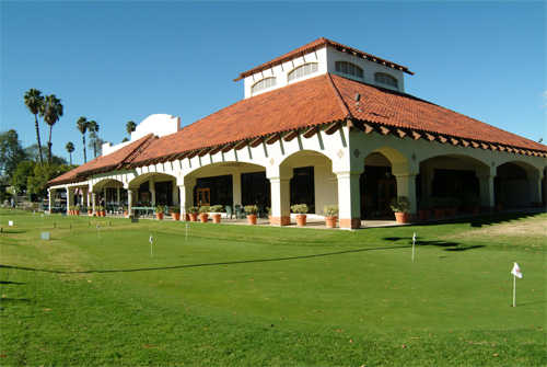 A view of the clubhouse at Los Serranos Golf & Country Club