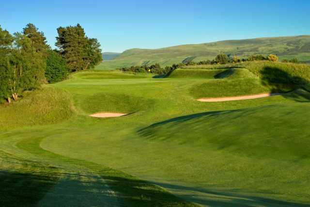 The raised 9th green on the King's Course at Gleneagles