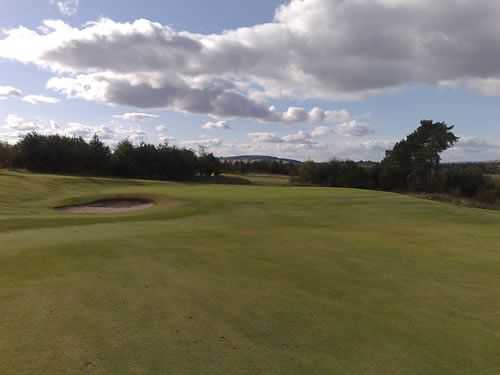 The approach to the 8th at Drumoig
