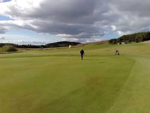 Looking back from the 9th green at Drumoig