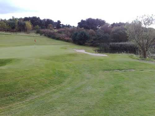 A look at the well protected 17th green at Drumoig