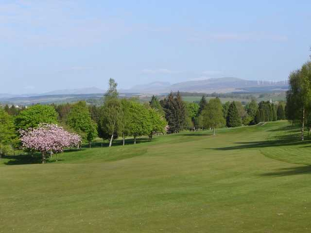 The 7th hole from the tee at Dunblane New GC