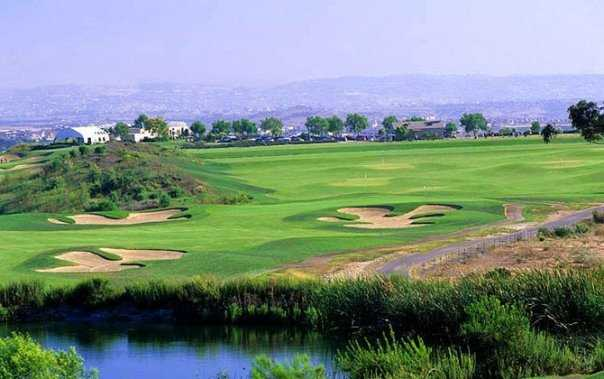 A view surrounded by water at Salt Creek Golf Club