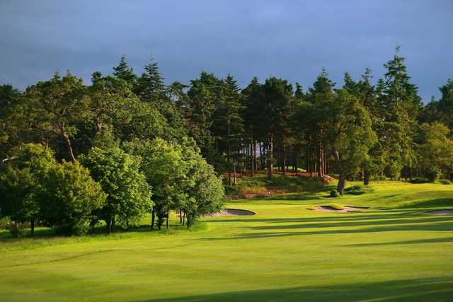 A tough looking approach on the 10th hole on the Cheshire Course