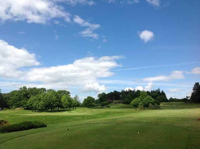The 1st tee at Carden Park Golf Club