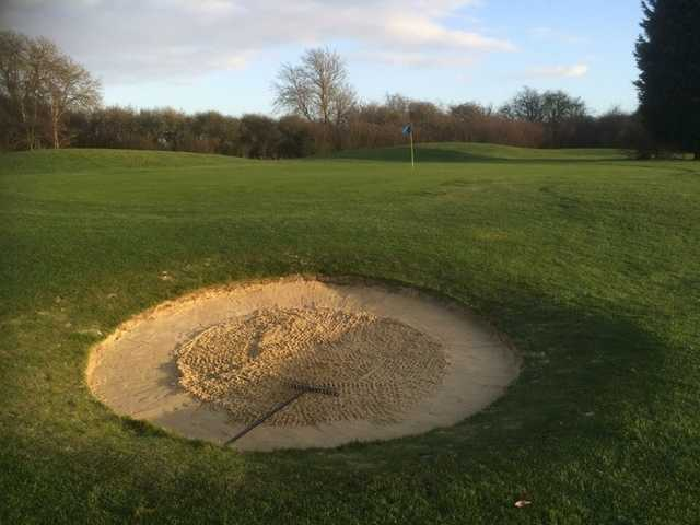 Greenside bunker on the Baroness Course at Beadlow Manor