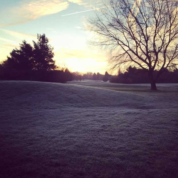 A frosty look the Baroness Course at Beadlow Manor