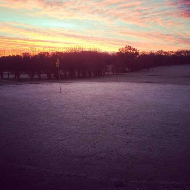 The Baroness Course on a winter morning