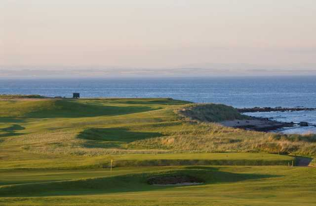 The 1st and 2nd holes on the Balcomie Links