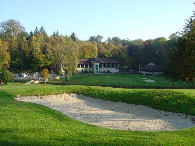 Scenic view down to the clubhouse at Balbirnie Park Golf Club
