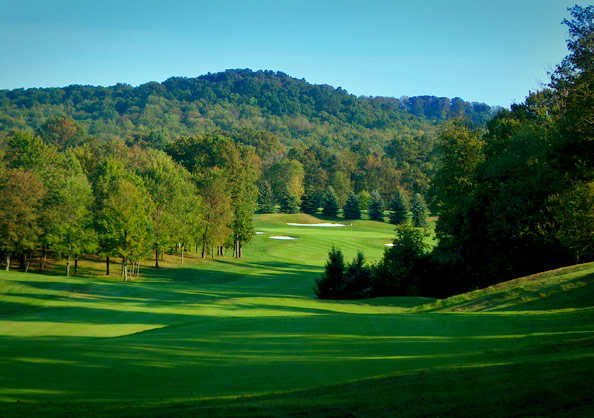 View of a fairway and green from Pittsburgh National Golf Club