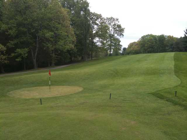 View of a 14th green and fairway at Mohansic Golf Course