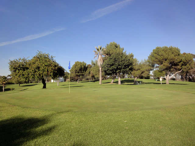 View of the 3rd green at Heroes Golf Course