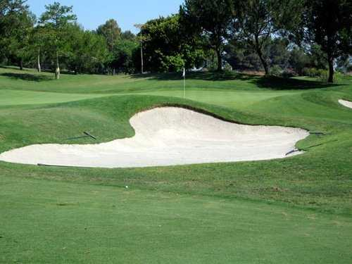 A view of green #1 at Aliso Viejo Country Club