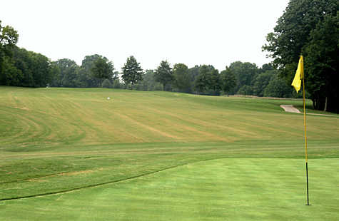 A view of the 5th green at Bear Trace from Tims Ford State Park