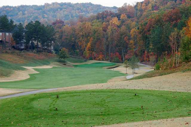 A fall view from a tee at Bear's Best