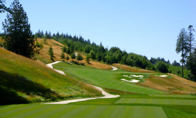 View from the 2nd tee at Salish Cliffs Golf Club