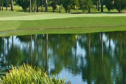 A view over the water from Pines at Country Club of Landfall Nicklaus Course