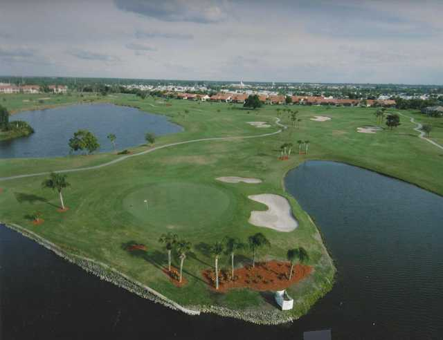 View of the 2nd hole at Twin Isles Country Club