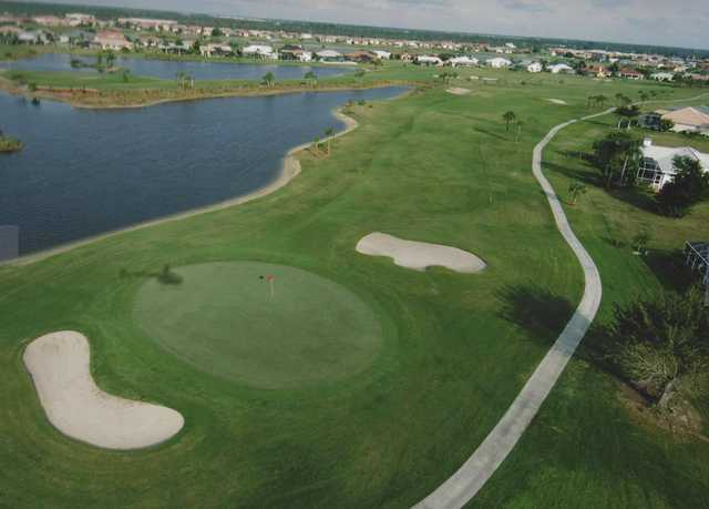 View of the 10th hole at Twin Isles Country Club