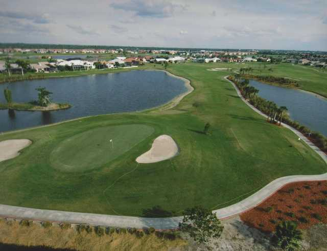 View of the 12th hole at Twin Isles Country Club