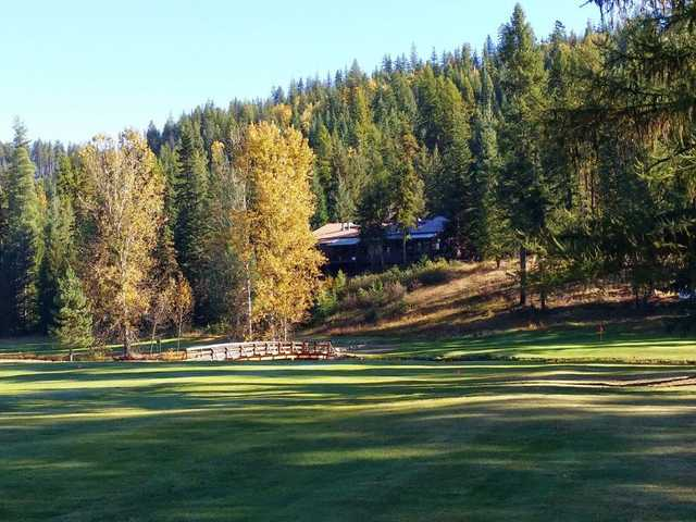 View of the second hole at Priest Lake Golf Club