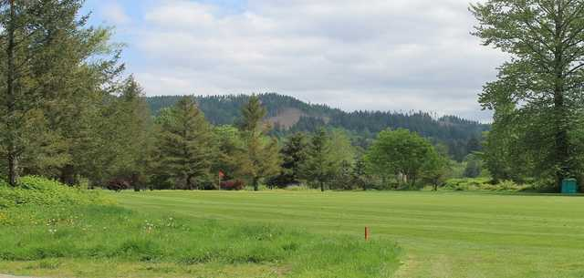 View of a green at Twin Rivers Golf Course