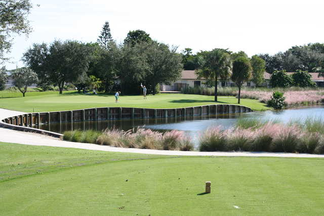 View of the 4th green from The Bridges at Springtree Golf Club