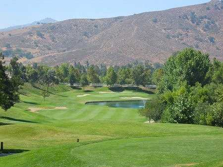 A view of green #9 at Eagle Crest Golf Club